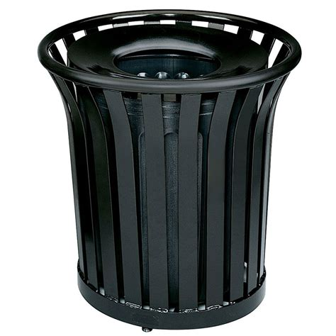 Decorative Trash Can by Rubbermaid Fgmt32plbk 36 Gal Outdoor Decorative Trash Can