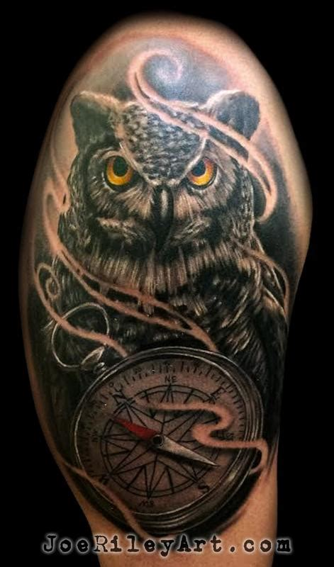 owl tattoo by joe riley tattoonow
