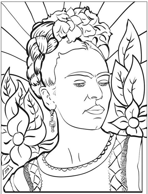 Frida Kahlo Coloring Pages Free Coloring Pages Of Kahlo