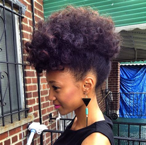 Transitioning Styles - nicollette transitioning natural hair style icon black with long hair