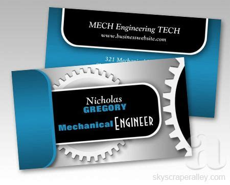 Mechanical Cards Templates by Business Cards Engineers And Business On