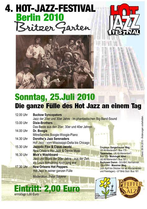 Britzer Garten Jazz Festival by Basin In Berlin Jazz Swing Auftritte Archiv