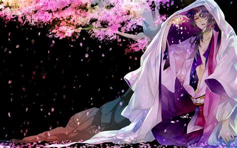 anime girl kimono wallpaper hd sakura anime boy kimono petals wallpaper 1920x1200