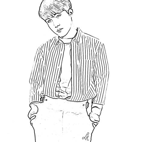 Bts V Coloring Pages by Bts Coloring Pages Army S Amino