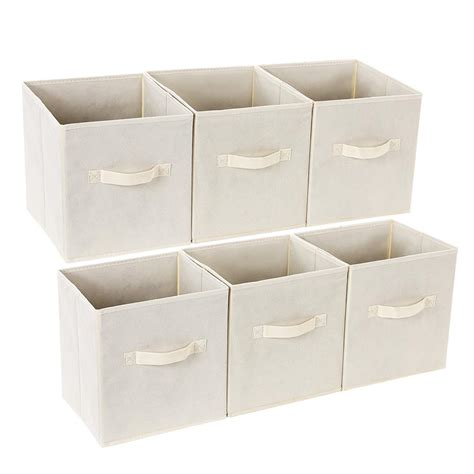 Fabric Drawer Organizer by Songmics Set Of 6 Storage Cubes Foldable
