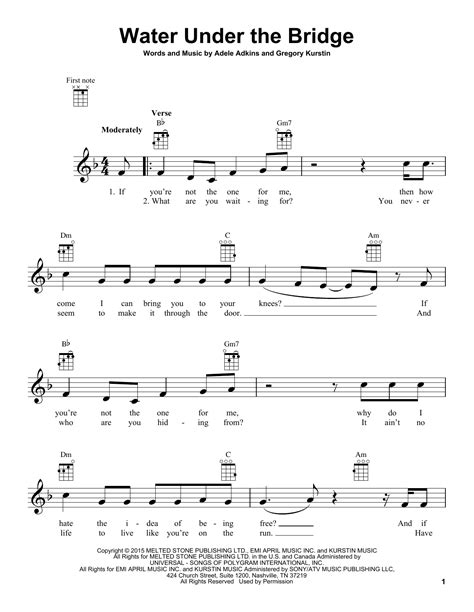 water under the bridge by adele easy guitar tab guitar water under the bridge by adele ukulele guitar instructor