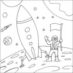 space coloring pages moon landing coloring page