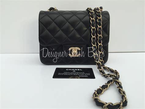 Tas Chanel Mini Square chanel mini square black bag