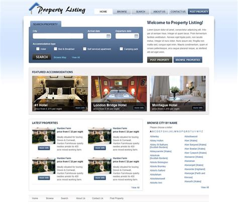 template real estate real estate website template free real estate web