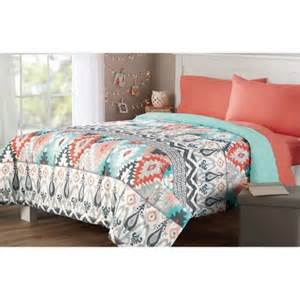 Mainstay Bedding Set Mainstays Microfiber Bedding Comforter Walmart