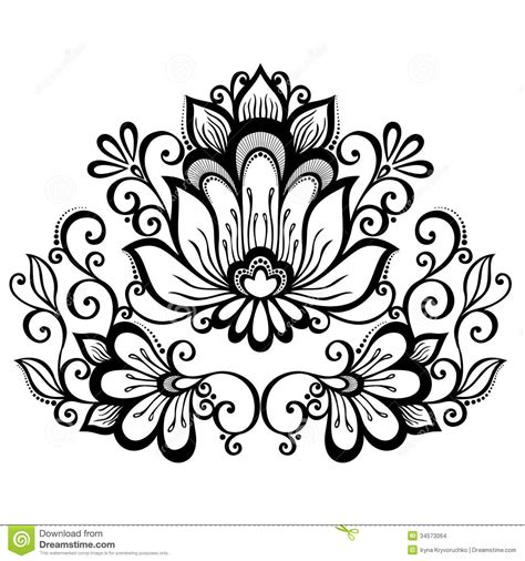 beautiful designs decorative flower with leaves stock vector image 34573064