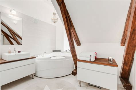 dachschräge nutzen design dachgeschoss badezimmer