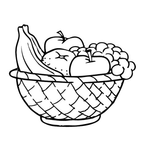 pencil of fruit basket coloring pages