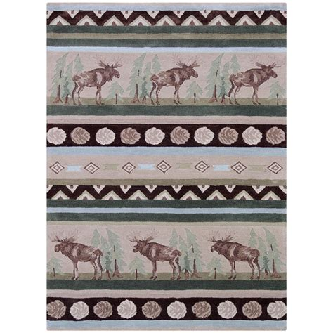 wilderness rugs wilderness collection quot moose quot rug 8x10 200899 rugs at sportsman s guide