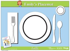 montessori placemat printable printable placemat for learning how to set the table from