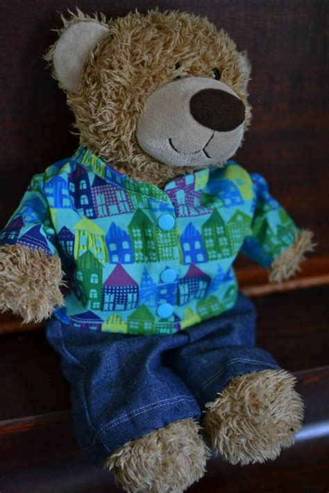 clothes pattern for build a bear free teddy bear jacket pattern for 16in bears sewing