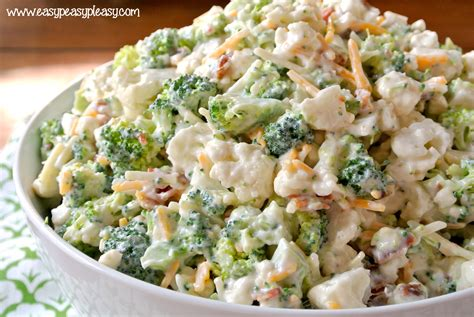 Pasta Salad Recipes Cold by Deliciously Sweet Broccoli Cauliflower Salad Easy Peasy