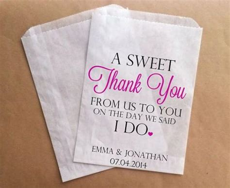thank you wedding favors bags custom candy buffet bags