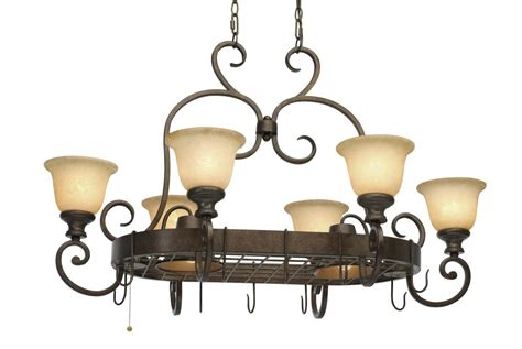 Pot Rack Chandelier golden lighting 8063 pr62 burnt heartwood 8 light pot rack chandelier