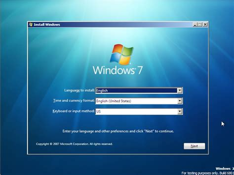 start your computer from a windows 7 installation disc or windows 7 install screenshots sean s stuff