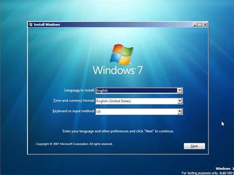xp setup download windows 7 install screenshots sean s stuff