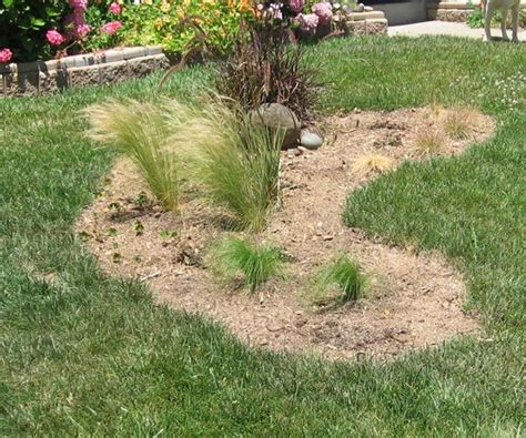 half moon shape for berm gardening