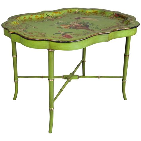 victorian papier m 226 ch 233 tray coffee table for sale at