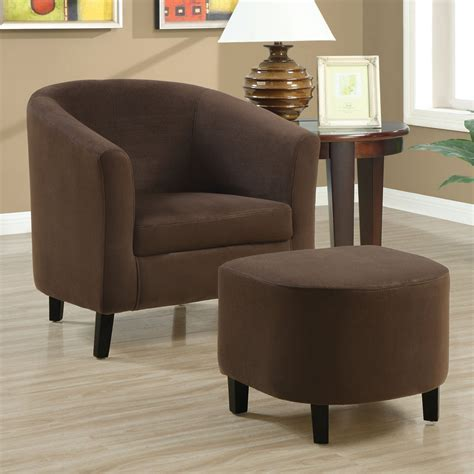 Monarch Specialties I 80 Fabric Accent Chair and Ottoman