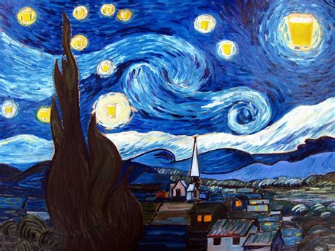imagenes artisticas de vincent van gogh i recreate famous paintings and add beer bored panda