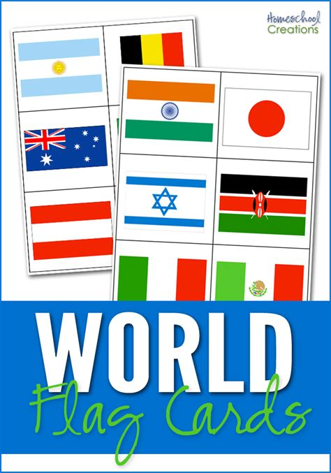 flags of the world game printable country flag card printables