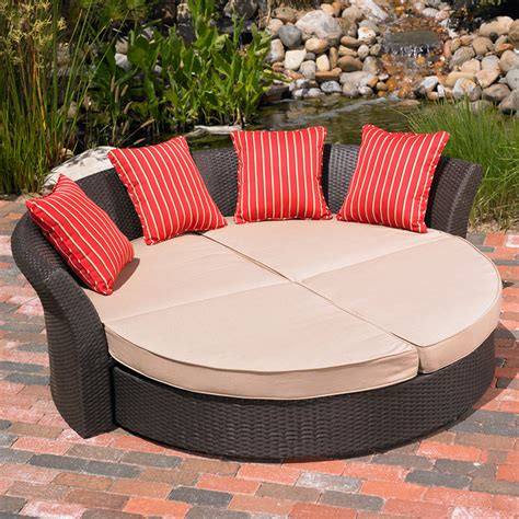 Outdoor Patio Daybed Mission Corinth Daybed Indoor Outdoor Patio Lawn Garden Furniture Set Ebay