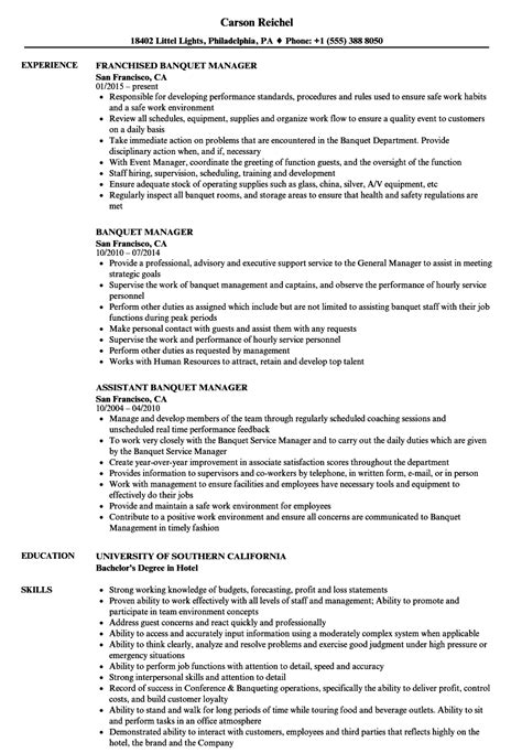 amazing banquet manager resume pictures inspiration