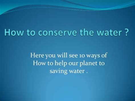 10 Ways How Water Helps You To Lose Weight by How To Conserve The Water