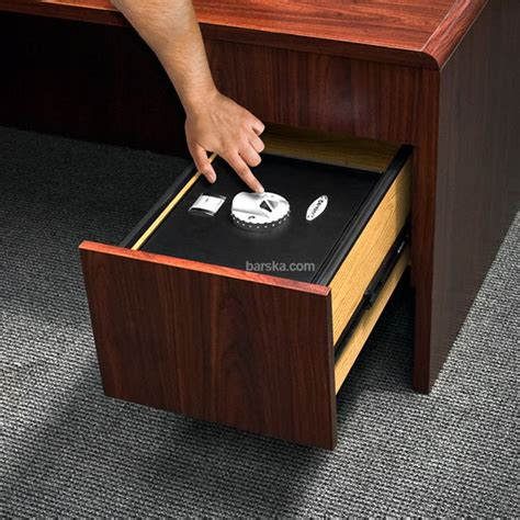 barska top opening biometric drawer safe