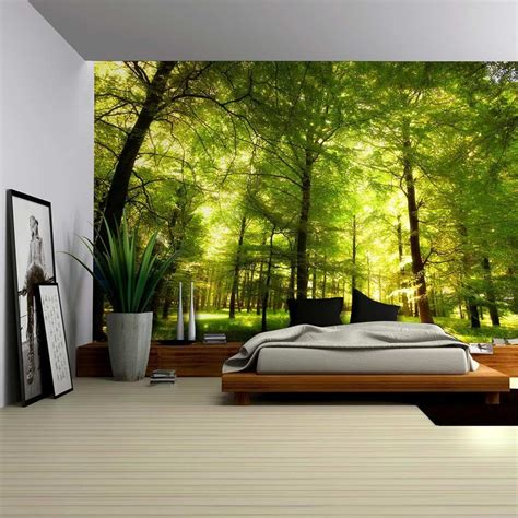wall murals for rooms crowded forest mural wall mural removable sticker home decor 100x144 inches ebay