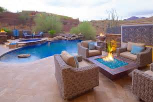 Best Backyard Fire Pit Phoenix Landscaping Design Amp Pool Builders Pool