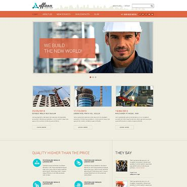 construction company website templates free archives muzragore