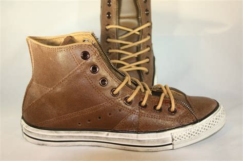 s converse chuck motorcycle brown leather hi