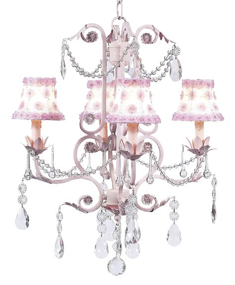 White And Pink Chandelier Chic Pink Chandelier With Petal Pink And White Shades 7506 2702 539 00 The Painted