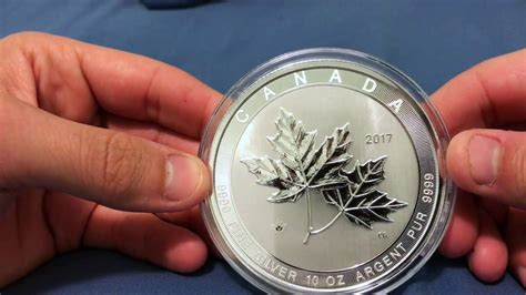 10 oz silver coin canada 2017 10 oz canadian silver magnificent maple leaf coin