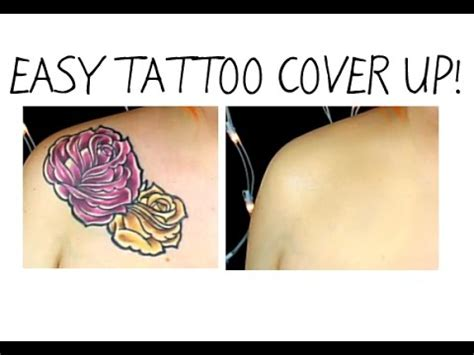 easy tattoo cover up easy tattoo cover up makeup using pros aide youtube