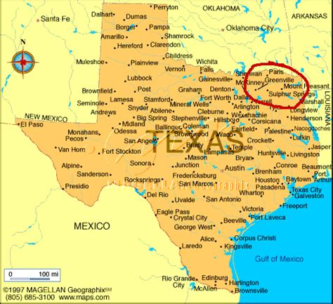 states that border texas map greenville tx images