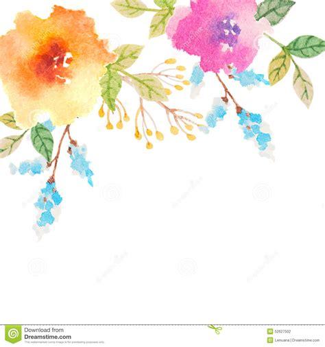 imagenes de flores para invitaciones tarjeta de la invitaci 243 n con las flores de la acuarela