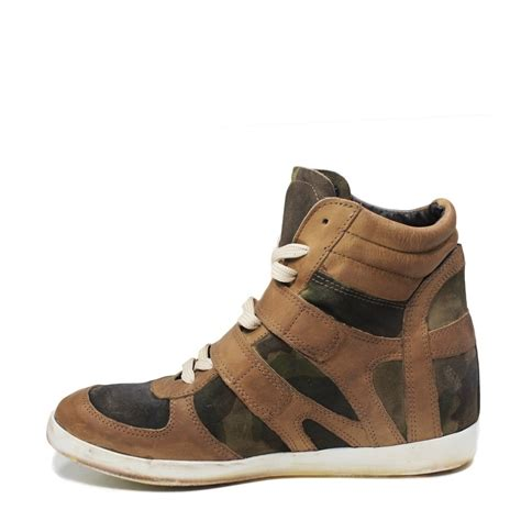 sneakers zeppa interna sneakers zeppa interna pelle taupe mimetico made in italy