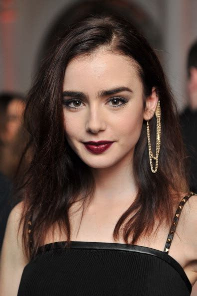 lily collins great hair and lip colour game is as famous as she is lily collins to star alongside sam claflin in love rosie