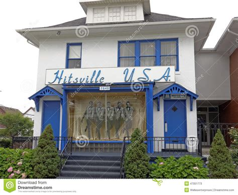Detroit Michigan Records Motown Headquarters Editorial Stock Photo Image Of