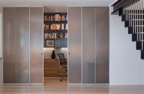 home office doors with glass closet styled frosted glass doors to tuck away home office