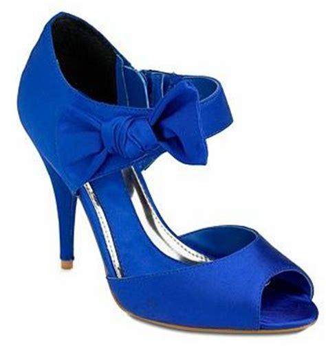 shoe deja vu blue bow side high heel shoes by herring