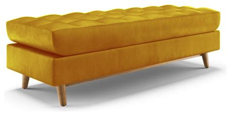 yellow bedroom bench gervin leather bench brighton lemon grass yellow