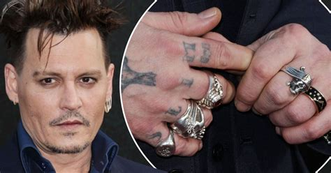 johnny depp tattoo on ring finger johnny depp ditches wedding ring as amber heard files for